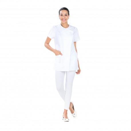 blouse médicale femme polycoton fermeture asymétrique-REMI-