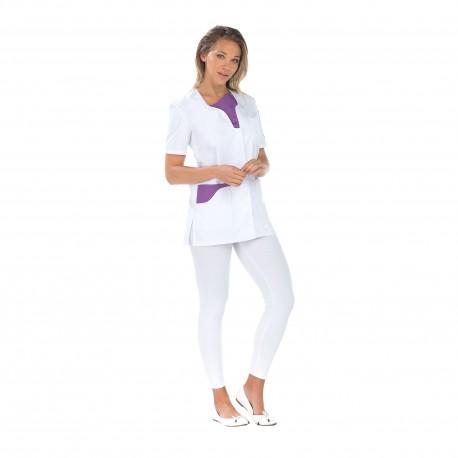 Blouse médicale femme manches courtes poche stylo-REMI-