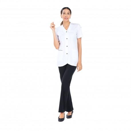 Blouse médicale femme avec porte badge-REMI-