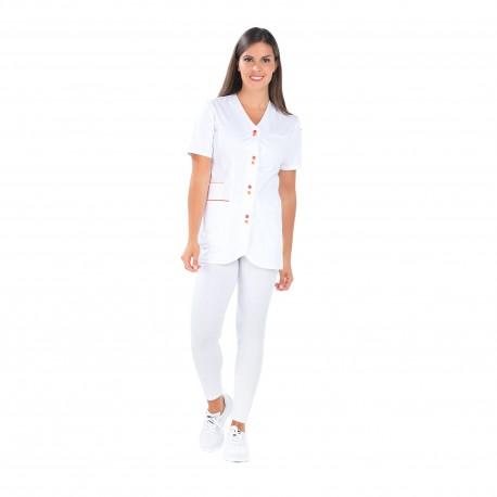 Blouse médicale femme polycoton avec trois poches-REMI-