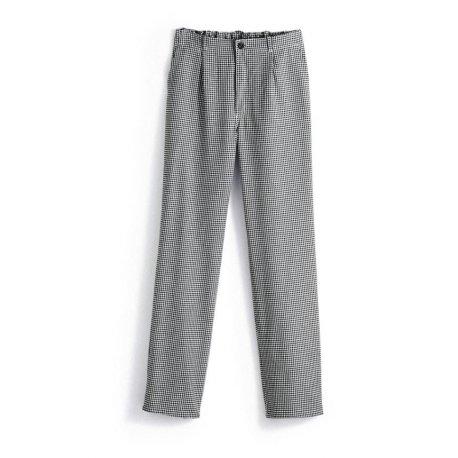 Pantalon de cuisine pied de de poule blanc et noir -BP-