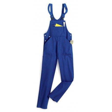 Cotte à bretelles bleu roi 60% coton-BP-