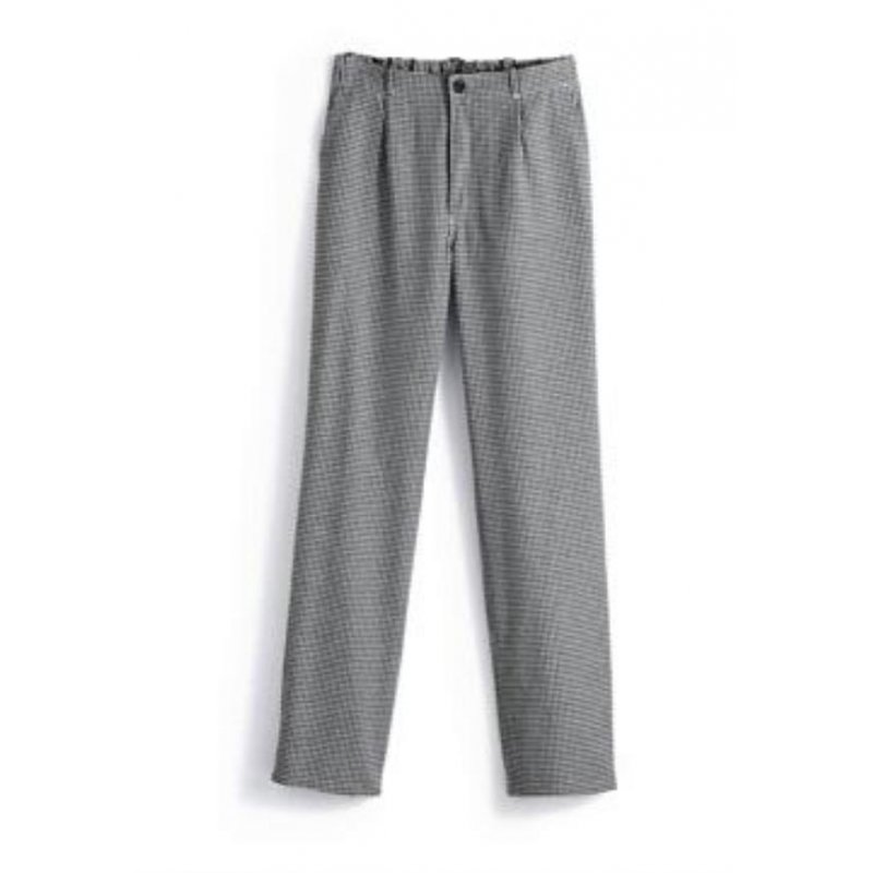 Pantalon pied de polue roi du tablier bleu blanc pied de for Pantalon pied de poule cuisine