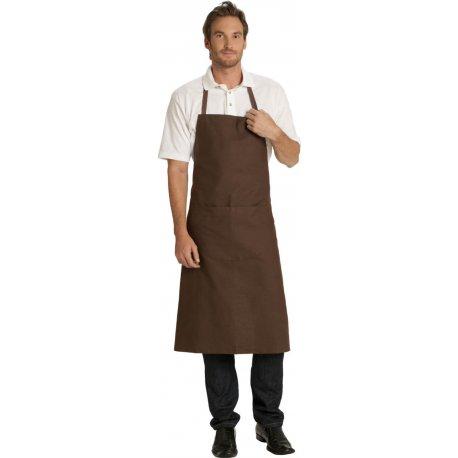Tablier Bavette marron pour les chocolatiers -Talbot-