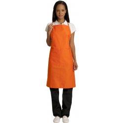 Tablier Bavette orange court -Talbot-