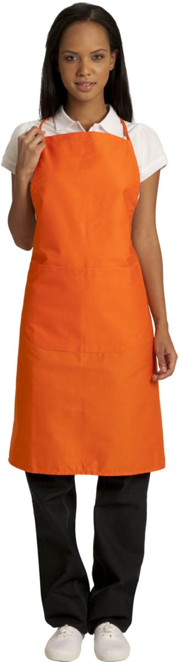 Tablier bavette orange