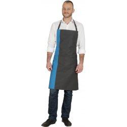 Tablier Bavettedeux couleur bleu et noir avec poche -Talbot-