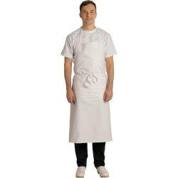 Tablier de Cuisine bavette blanc 100% coton large -Talbot-