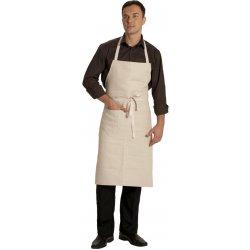 Tablier de Cuisine à Bavette Ecru 100% coton large -TALBOT-