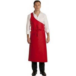 Tablier de boucher à la parisienne rouge -Talbot-