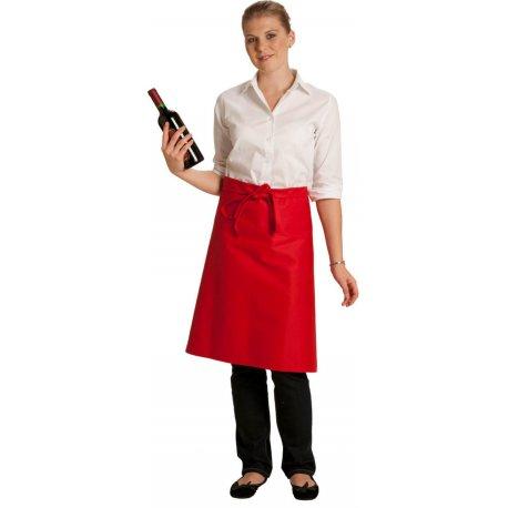 Tablier Bistrot rouge polycoton 75 cm -TALBOT-