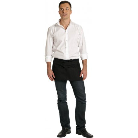 Tablier de Brasserie noir 4 poches 35 cm -TALBOT-
