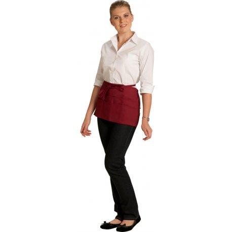 Tablier de Brasserie rouge 4 poches 35 cm -TALBOT-