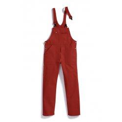 Cotte à bretelles rouge 100% coton-BP-