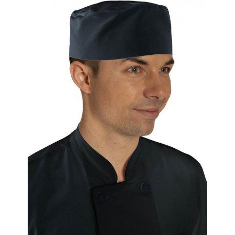 Toque plate boulanger velcro coton noir - Talbot-