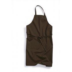Tablier de cuisine professionnel à Bavette Marron
