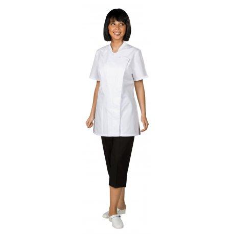 Veste de cuisine Femme blanche manches courtes cintré-REMI-