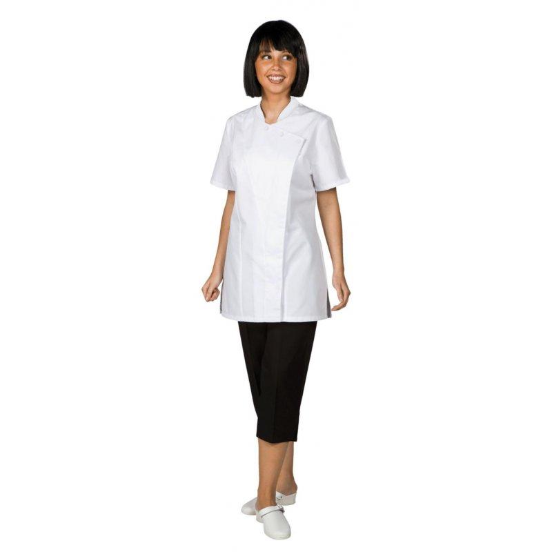 Veste de cuisine julia enti rement blanche remi achat for Achat veste de cuisine