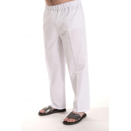 Pantalon médical polycoton blanc-TEXSAN-