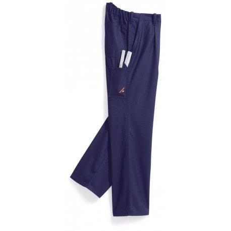 Pantalon de travail bleu foncé 60% coton élastiqué dos-BP-