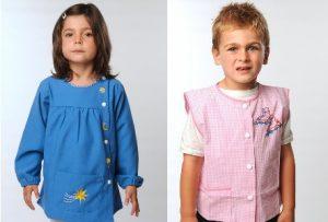tabliers rose et bleu pour enfants